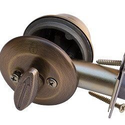 Deadbolt lock installation